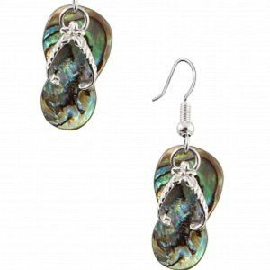 Mother of Pearl Flip Flop Earrings